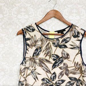 J.Crew | Beige floral tank blouse size 8